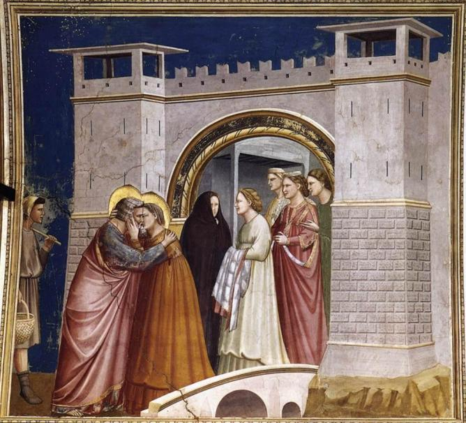 Giotto di bondone meeting at the golden gate wga09176
